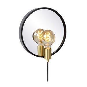 Lucide REFLEX - Spiegellamp - 1xE27 - Zwart - 36213/31/30