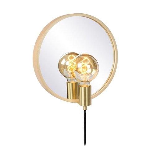 Lucide REFLEX - Spiegellamp - 1xE27 - Licht hout - 36213/31/72