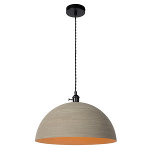 Lucide MARNE - Hanglamp - Ø 40 cm - 1xE27 - IP21 - Taupe 30485/40/41