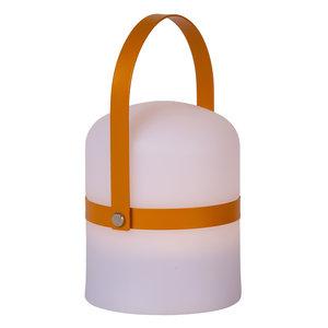 Lucide LITTLE JOE - Tafellamp Buiten - Ø 10 cm - LED Dimb. - 1x3W 3200K - IP44 - 3 StepDim - Wit - 06802/01/43