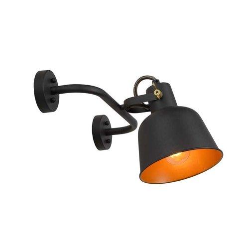 Lucide PIA - Wandlamp - 1xE27 - Zwart - 45280/01/30