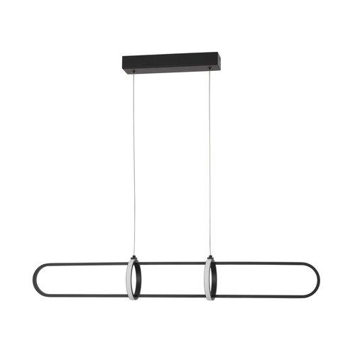 Nova Luce LED hanglamp ARTE zwart 90 x 13 x 120 cm