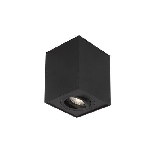 Nova Luce RENDE opbouwspot 1L - zwart - GU10