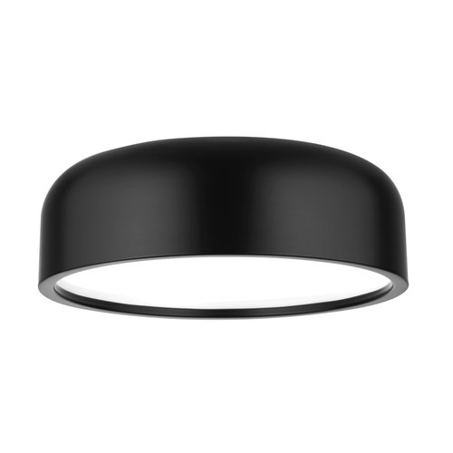 Nova Luce Plafondlamp Perleto zwart Ø 48 x 15 cm