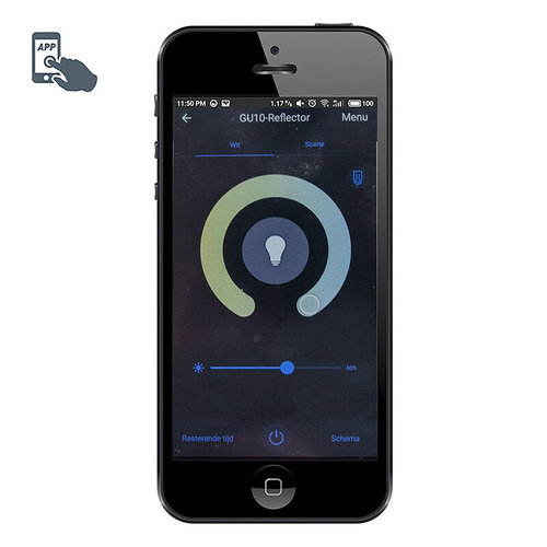 QAZQA Smart rail system black 5 spots incl. 5 WiFi GU10 - Jeana