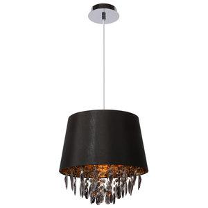 Lucide DOLTI - Hanglamp - Ø 30,5 cm - 1xE27 - Zwart - 78368/30/30