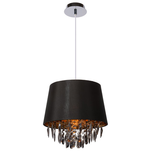 Lucide DOLTI - Pendant lamp - Ø 30,5 cm - 1xE27 - Black - 78368/30/30