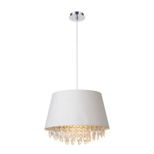 Lucide DOLTI - Hanging lamp - Ø 45 cm - 1xE27 - White - 78368/45/31
