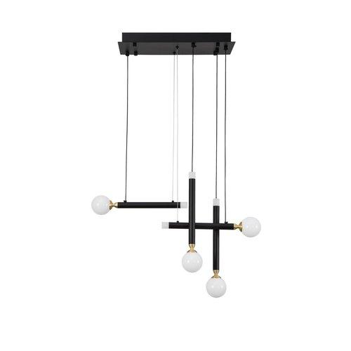 Nova Luce LED hanglamp Cayo zwart 51 x 20 x 120 cm