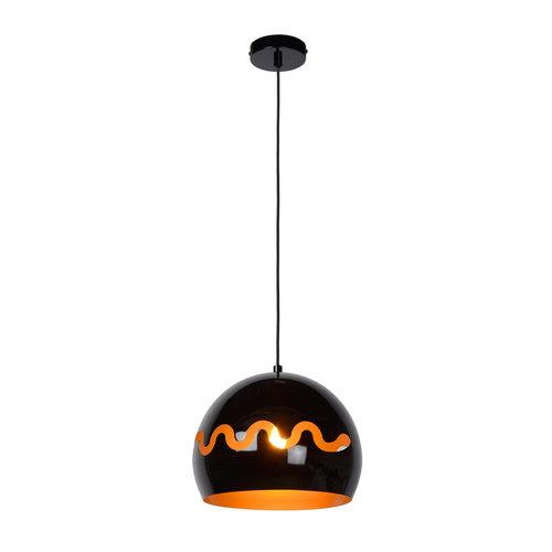 Lucide CORENTIN - Hanglamp Kinderkamer - Ø 28 cm - 1xE27 - IP21 - Zwart - 30484/28/30
