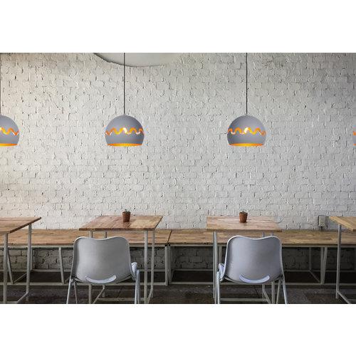 Lucide CORENTIN - Hanging lamp Children's room - Ø 28 cm - 1xE27 - IP21 - Gray - 30484/28/36