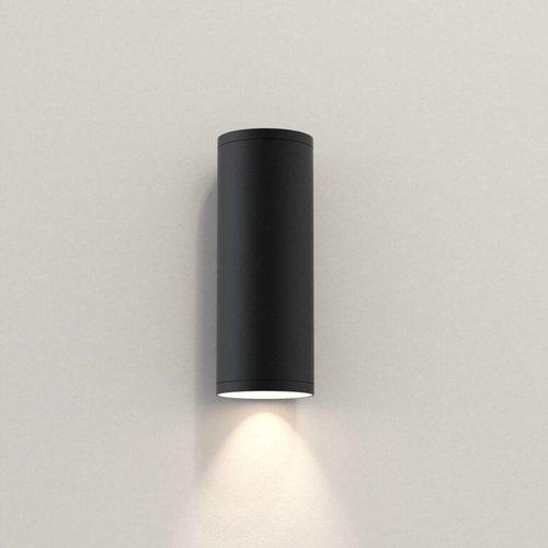 Astro Wall lamp Ava 200 Black textured IP44