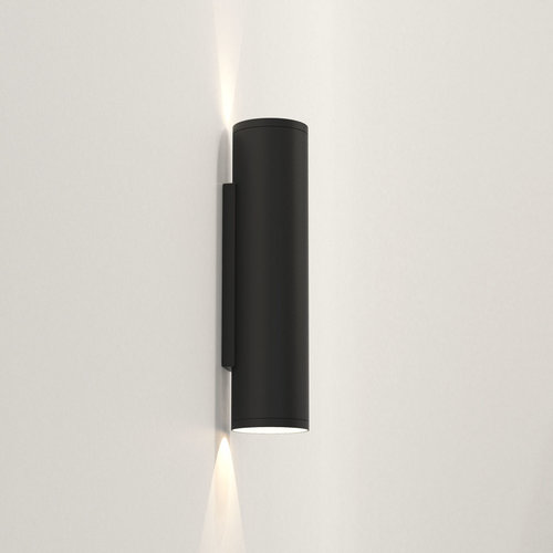 Astro Wall lamp Ava 300 Black textured IP44