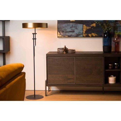 Lucide GIADA - Floor lamp - Ø 45 cm - 2xE27 - Matt Gold / Brass - 30770/02/02