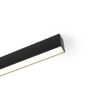 EXTERUS POWERLINE ON LED ceiling light line 38x75mm BLACK