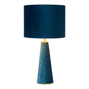 Lucide EXTRAVAGANZA VELVET - Table lamp - Ø 25 cm - 1xE27 - Turquoise 10501/81/37