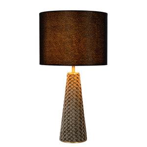 Lucide EXTRAVAGANZA VELVET - Tafellamp - Ø 25 cm - 1xE27 - Zwart 10501/81/30