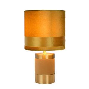 Lucide EXTRAVAGANZA FRIZZLE - Tafellamp - Ø 18 cm - 1xE14 - Geel - 10500/81/34