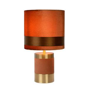 Lucide EXTRAVAGANZA FRIZZLE - Tafellamp - Ø 18 cm - 1xE14 - Bruin - 10500/81/43