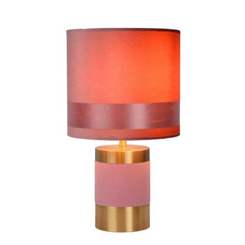 Lucide EXTRAVAGANZA FRIZZLE - Tafellamp - Ø 18 cm - 1xE14 - Roze - 10500/81/66