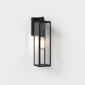 Astro Wandlamp Harvard Lantern Zwart getextureerd