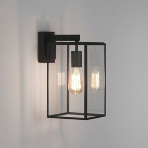Astro Wall lamp Box Lantern 350 Black texture