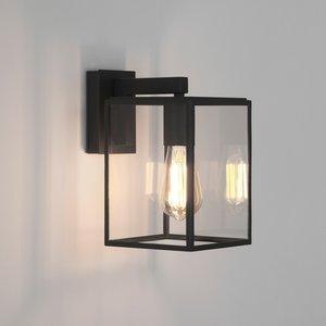 Astro Wall lamp Box Lantern 270 Black texture
