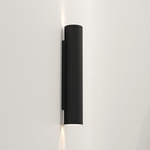 Astro Wall lamp Ava 400 Black textured IP44