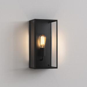 Astro Wall lamp IP44 Messina 200 Black textured