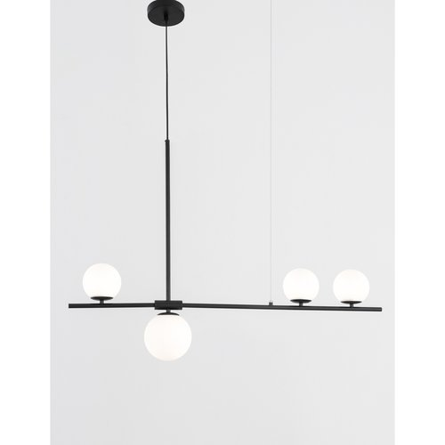 Nova Luce Hanglamp Impero  - 100 x 15 x 120 cm - zwart