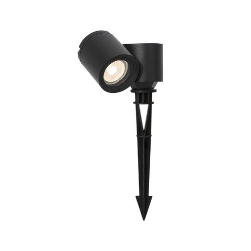 Nova Luce Focus - ground spot on pin - GU10 - IP54 - black