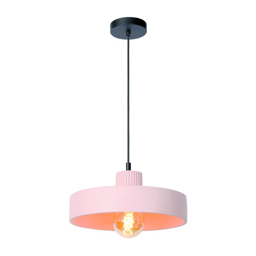 Lucide OPHELIA - Hanglamp - Ø 35 cm - 1xE27 - Roze - 20419/35/66