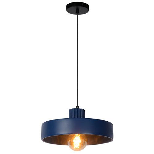 Lucide OPHELIA - Hanglamp - Ø 35 cm - 1xE27 - Blauw - 20419/35/35