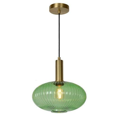 Lucide MALOTO - Hanging lamp - Ø 30 cm - 1xE27 - Green - 45386/30/33