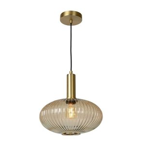 Lucide MALOTO - Hanging lamp - Ø 30 cm - 1xE27 - Amber - 45386/30/62