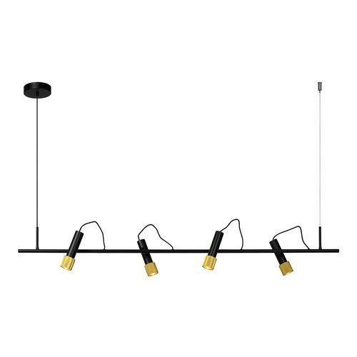 DUELE - Hanglamp - LED - 4x5,3W 3000K - Zwart - 20420/20/30