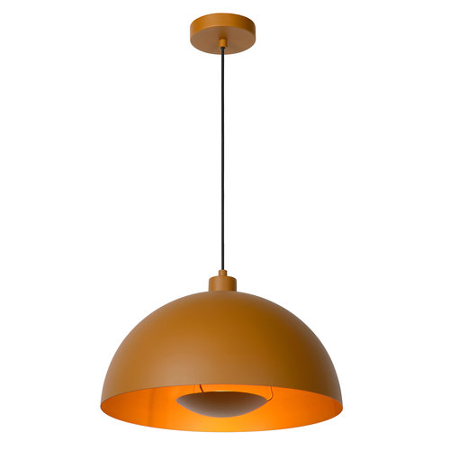 Lucide SIEMON - Hanglamp - Ø 40 cm - 1xE27 - Okergeel - 45496/01/44