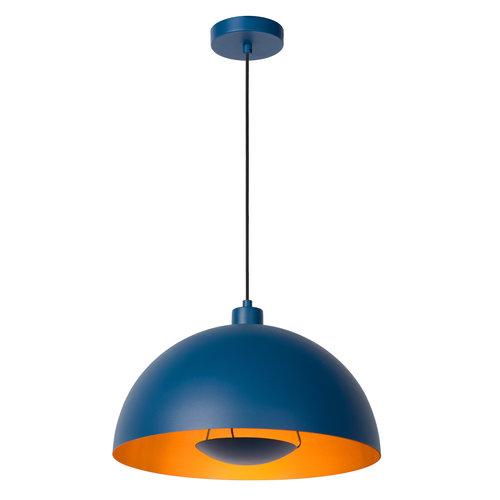 Lucide SIEMON - Hanglamp - Ø 40 cm - 1xE27 - Blauw - 45496/01/35