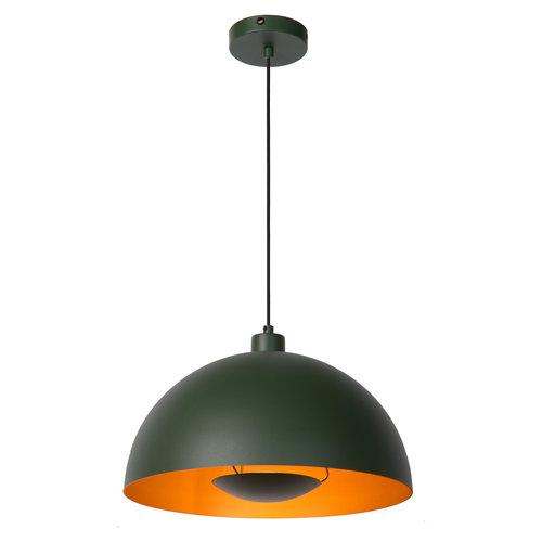 Lucide SIEMON - Hanglamp - Ø 40 cm - 1xE27 - Groen - 45496/01/33