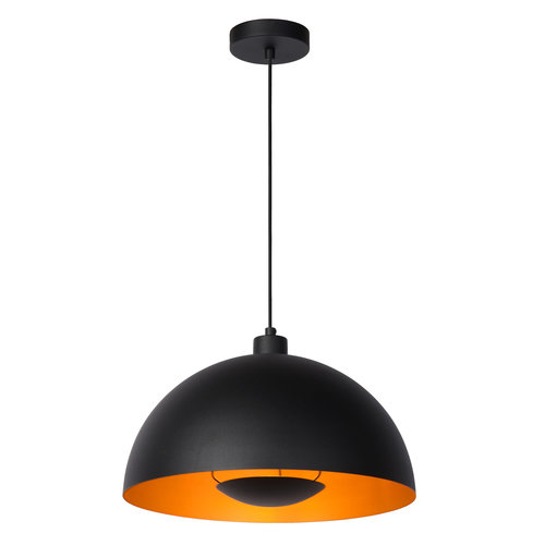 Lucide SIEMON - Hanglamp - Ø 40 cm - 1xE27 - Zwart - 45496/01/30