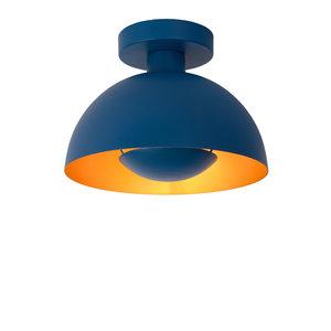 Lucide SIEMON - Plafonnière - Ø 25 cm - 1xE27 - Blauw - 45196/01/35