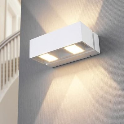 LioLights modern white LED wall light IP54 BFELDII