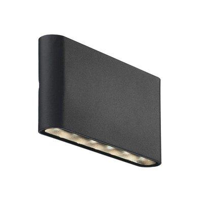 Moderne luminaire de mur de LED Kinver en noir