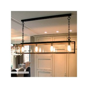Authentage Rural hanging lamp VITRINE SUSPENSION LONG CHAIN 4L