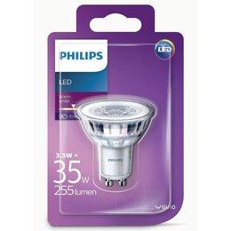 Philips LED classique 3.5-35W WARM GU10 BLANC blanc chaud