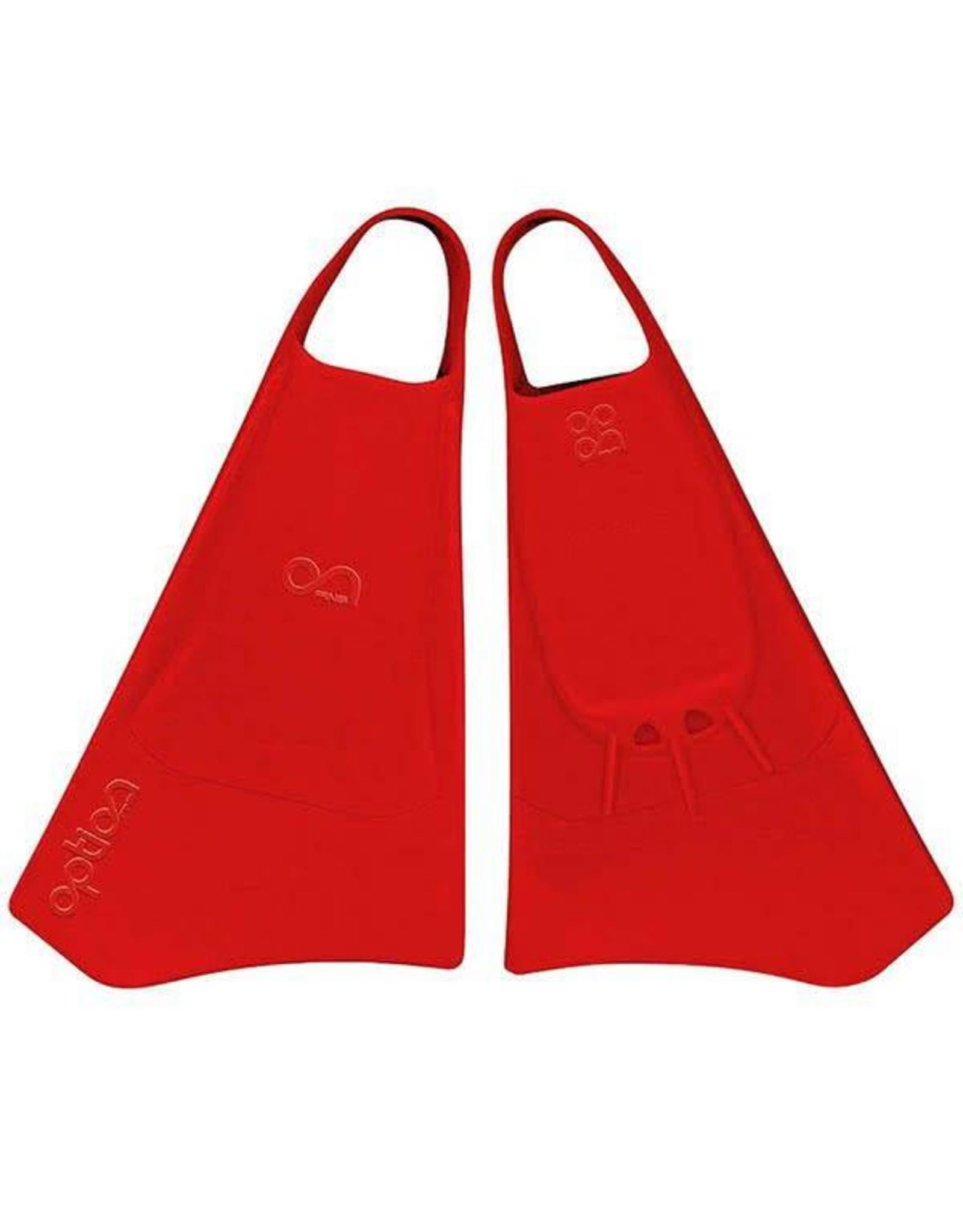 Option Option Bodyboard Fins 40-42 Rood