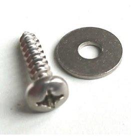 Footstrap Screw & Ring 5.5x25mm RVS