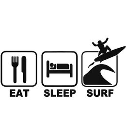 Eat Sleep Surf Sticker