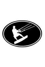 Kite Surfer Auto Sticker