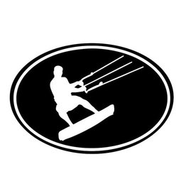 Kite Surfer Auto Sticker